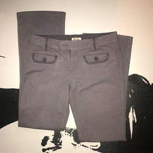 Be Bop   Gray Gingham Print Bootcut Pants